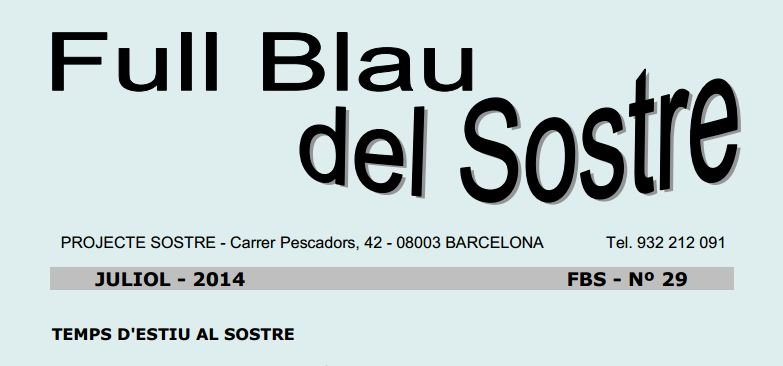 Full Blau del Sostre – Juliol 2014